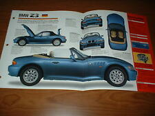 ★★1997 BMW Z3 1.9 SPEC SHEET BROCHURE POSTER PRINT PHOTO 97 96 98 99 00 ROADSTER