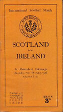 SCOTLAND v IRELAND 1936 RUGBY PROGRAMME 22 Feb at MURRAYFIELD