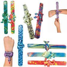 Animal Snap Slap Bracelets Kids Party Fun Snaps Bag Pinata Fillers Goodie Gift