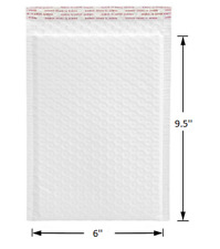 Any Size Poly Bubble Mailers Shipping Mailing Padded Bags Envelopes White