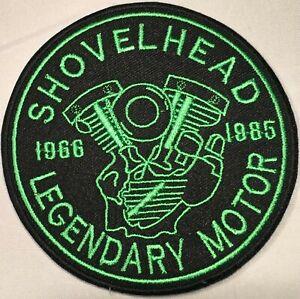 SHOVELHEAD LEGENDARY MOTOR HARLEY EMBROIDERED MOTORCYCLE BIKER CLUB PATCH T-5