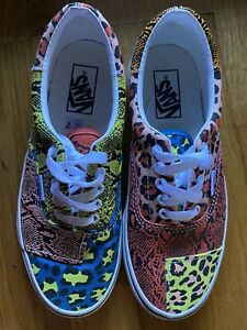 Vans Patchwork Era Leopard Snake shoes men 6.5, womens 8