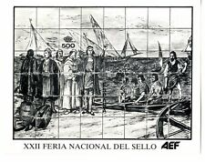 Hojita recuerdo XXII Feria Nacional de Sello Colon Descubrimiento