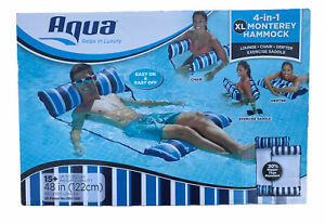 Aqua 4-in-1 Monterey Hammock XL Inflatable Pool Lounge, Chair, Drifter, Exercise