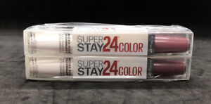 Maybelline Superstay 24 Color (2 PACK) Lipcolor Topcoat #050 Unlimited Raisin