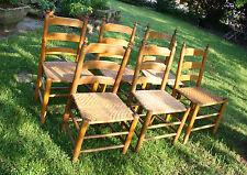 Ein Paar Eichenholzstühle mit geflochtener Sitzfläche um 1900 (sogen. Storch