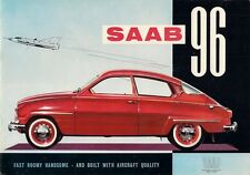 Saab 96 2-Stroke 1960-61 UK Market Sales Brochure