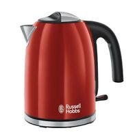 Russell Hobbs Colours Plus+ Flame Red Wasserkocher Rot-Edelstahl 2400 Watt