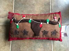 St Nicholas Square Longhorn Holiday Pillow