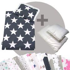 Bettwäsche-Set 4-tlg. für Kinderwagen Babybett Decke+Kissen+Füllung (STARS 8)