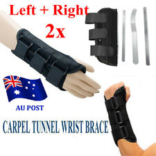 2x Breathable Wrist Brace Support Carpal Tunnel Splint Sprain Gym Protector NW