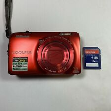 Nikon Coolpix S6300 16.0MP Digital Camera - Red with 16GB SDHC Card - No Charger