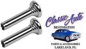 (2)DOOR LOCK KNOBS CHROME 67 GM,CAMARO,NOVA,GTO,IMPALA M1773