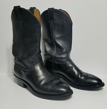 Justin Boots - Black Melo Veal Work Boot-Vibram Rubber Sole. Size 10D Style 3040