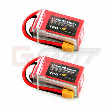2 x YPG 1800mAh 14.8V 70C 4S Lipo Lipoly Battery For RC Helicopter Hobby Grade A