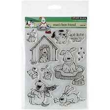 "Penny Black Clear Stamps 5""X7""-Man's Best Friend New"