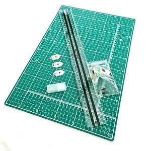 Jakar A3 Picture Photo Mount Cutter 40cm Guide Ruler & Cutting Mat Set Kit NEW