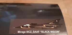 "Falcon Models 1/72 Mirage IIICZ SAAF ""Black Widow"" Not Hobby Master New Mint"