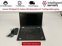 "Lenovo Thinkpad X1 Carbon 4th Generation i5-6300U 14"" Configurable Laptop"