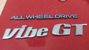 Original 03-04-05-06-07-08 Pontiac Vibe GT ALL WHEEL DRIVE  Emblem-Badge
