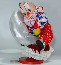Musical Clown Porcelain Vintage Years 80 Clown Music Box Wind-Up & Rotate