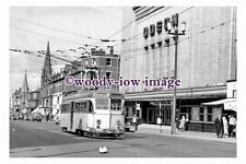 gw0490 - Blackpool Tram no 224 by Odeon Cinema in 1963 - photograph