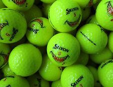 100 neue gelbe Srixon Distance Golfbälle 2017 mit dem Shark Bite Logo
