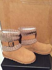 Womens UGG Australia 'Cambridge' chestnut sheepskin boots/shoes sz 6 new In Box