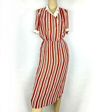 Shin yea fashion vintage lined striped pencil career party dress. Womens size 10