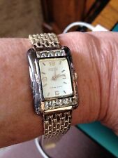 VINTAGE WOMEN'S ECCLISSI STERLING SILVER PANTHER WATCH WITH 8 TOPAZ STONES