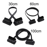 30/60/100cm OBD2 16Pin Male to Female Extension Cable Diagnostic Extender LY