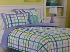 7 pc Circo Purple Plaid Collection Full Quilt, Shams, & Sheet Set NIP