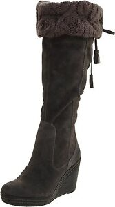 Dr. Scholl's Women's Builder Grey Knee High Suede Boots Size 6-10 M1020