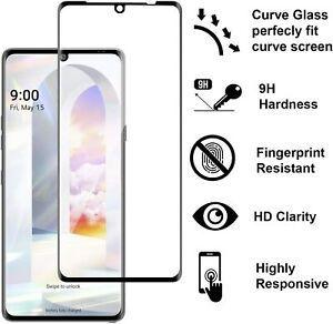 2 Pack For LG Velvet 5G Curved 3D Full Cover Tempered Glass Screen Protector x2