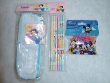 Disney Princess Pencil Case with 6 Pencils & Disney Mickey&Pals character bandz