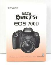 Canon EOS Rebel T5i / 700D Camera Instruction Manual SPANISH LNC (452)