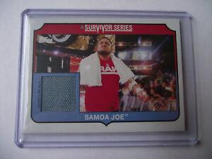 2018 Topps Heritage WWE -Samoa Joe Survivor Series Mat Relic 263/299