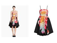 H&M Black Scuba Floral Night Out Dress