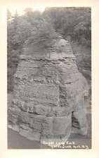 Letchworth Park New York Sugar Loaf Rock Real Photo Antique Postcard K39413
