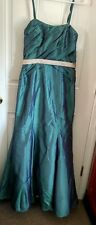 Gorgeous DaVinci style#9322 Color Teal/ Palomine~Prom/ Bridesmaid Dress sz 10
