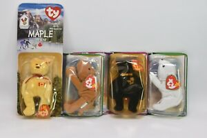 Ty Beanie Baby Bear The End, Chilly, Humphrey the Camel, Maple, RARE Vintage