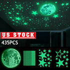 435pcs Luminous Stars & Moon Wall Stickers Decal Kid Room Decor Glow In The Dark