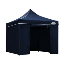Instahut 3x3m Outdoor Gazebo Hut Folding Marquee Canopy Tent Navy