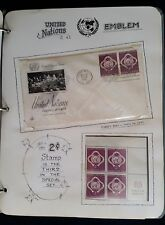 UN First Day Covers and Stamp Blocks Collection 1951 - 1954 Custom Album Sheets