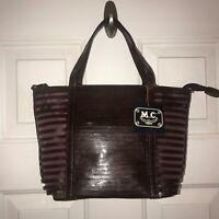 M.C. Marc Chantal MC Wine Leather Shoulder Hand Bag Purse Satchel NWT
