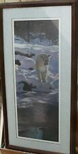 TERRY ISAAC NATURE LIMITED EDITION PRINT 197 SIGNED MOUNTAIN LION SNOW RIVER