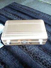"1960 -70s Vintage Zero Halliburton Gold Aluminum  21""case  /   NEW  With Tags"