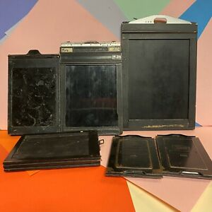 X6 Cut Film Holders Various Sizes! Film Plates? Vintage Large Format?