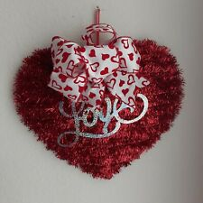 Valentine's Day Red Heart Love Door Wreath Wall Hanging Decor Swag Home Decor