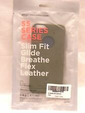 Elago Green S5 Series iPhone 5/5s Phone Case Slim Fit Glide Breathe Flex Leather